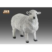 Buy cheap White Life Size Fiberglass Dolly Sheep Statue Animal Sculpture Garden Decor from wholesalers