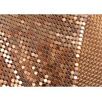 Buy cheap 6mm Square Flake Decorative Aluminum Metallic Fabric Used Colored Drapery from wholesalers