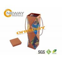 China Flat Packaging Cardboard Wine Packaging Boxes 750ml Bottle Wine Box on sale