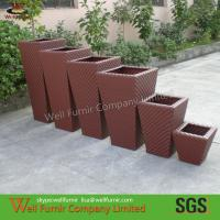 Buy cheap Park Wicker Plant  Pots , Conservatory Poly Rattan Plant Pot from wholesalers