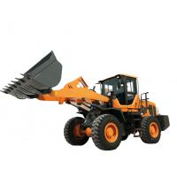 Buy cheap Steel Yellow Compact Wheel Loader , Articulated Backhoe Loader High performance from wholesalers