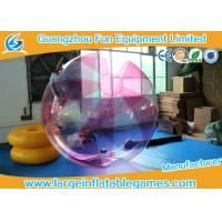 Buy cheap Striped Color TPU Inflatable Water Walking Ball Walk On Water Ball With Logo Printing from wholesalers