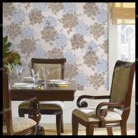 Buy cheap country flowers design pvc wallpaper bedroom decorative vinyl wallpaper from wholesalers