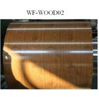 Buy cheap Wood Patterned Painted Aluminum Coil Fire Resistance DX5ID Grade from wholesalers