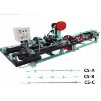 Buy cheap Durable Fencing Wire Manufacturing Machine , High Standard Barbed Wire Machine from wholesalers