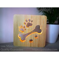 Buy cheap Blank Wooden Laser Engrave Pet Aftercare Tribute Memorial LED Light Candle Bone and Paws, MOQ 1 PC from wholesalers
