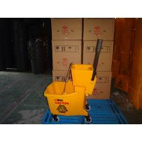 Buy cheap 36L hand press mop bucket with wringer manufacturer from wholesalers