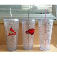 Buy cheap HT-20 custom plastic straw drinks cup beer cup colors gel water PS material Cold beer cup from wholesalers