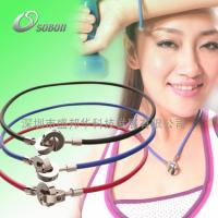 Buy cheap Silicone Germanium Titanium Colorful Sports Energy Balance Necklace from wholesalers