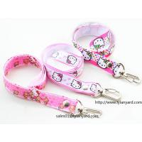 Buy cheap Imprinted Pink Lanyard, Cute Cartoon Logo Lanyard,  Rivet Lanyard with  Logo from wholesalers