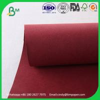 Buy cheap Environment-friendly thcikness 0.55mm  width 150cms   Red Kraft Washable Paper Fabric product