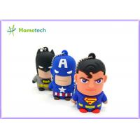 Buy cheap Hero Series Cartoon Usb Flash Memory , Usb 2.0 Memory Stick Pvc Or Soft Plastic Material from wholesalers
