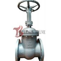 Buy cheap Din Pn25 Manual Cast Steel Gate Valve , Bolted Cover Metal Seated Gate Valve from wholesalers