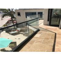 Buy cheap Commercial Frameless Glass Railing System With Powder Coated Aluminum U Channel from wholesalers