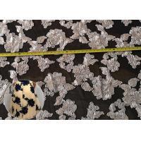 Buy cheap Fashion Chenille Embroidered Lace Fabric , Polyester Mesh Fabric For Dresses from wholesalers