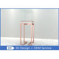 Buy cheap OEM Rose Gold Glass Jewelry Display Case Pedestal Display Furniture product