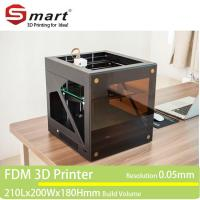 Buy cheap Wholesale desktop large FDM 3D printer, 3D printer machine with printing size 210*200*180mm from wholesalers