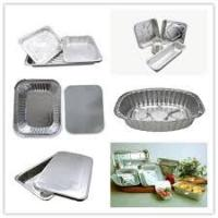 Buy cheap Recyclable Aluminium Foil Containers Two Divisions For Takeaway Food 0.07mm from wholesalers
