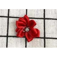 Buy cheap Red Handmade Flower Ribbon For Clothing Accessories / Home Textile from wholesalers