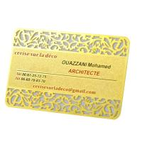 Buy cheap Vip 	Rose Gold  Metal Business Cards Custom Engraved Golden Plated Advertisementing product