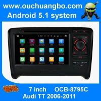 Quality Ouchuangbo capacitive android 5.1 car radio for Audi TT 2006-2011with gps 3wifi 1024*600 for sale