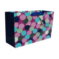 Buy cheap Personalised Paper Carrier Bags Round Dot Square Bottom for Gift from wholesalers