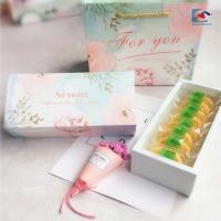 China High quality customs design color printed ivory paper moon cake packaging box on sale