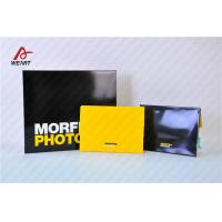 Buy cheap Yellow & Black Color Customized Logo Promotional Paper Bags Glossy Lamination from wholesalers