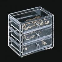 Buy cheap Clear Acrylic Jewelry Display Case Holder Stand With Silk-Screen Logo product