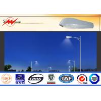 Buy cheap 6m Single Arm Solar Street Light Poles , Galvanized Road Light Poles IP65 from wholesalers