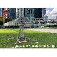 Buy cheap Decoration Curved Roof Stage Truss , Custom Stage Lighting Scaffolding product
