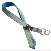 Buy cheap Multi-functional reflective neck lanyard with metal bottle opener hook and metal buckle, from wholesalers