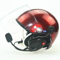 Buy cheap Red PPG helmet/Paramotor helmet with full headset EN966 from wholesalers