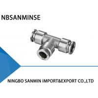 Buy cheap NBSANMINSE SSPUT Connector Pneumatic Anticorrosion Air Compressor Stainless Steel Fittings Food Grade Fitting Union Tee from wholesalers