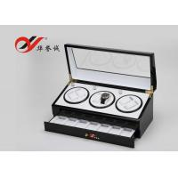 Modern Style 3 Watch Packaging Box Luxury Lacquer Wood Material With Drawer
