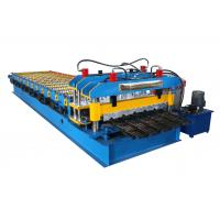 Buy cheap Colored Roofing Sheet Roll Forming Machine , Glazed Tile Making Machine from wholesalers