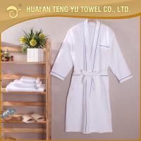 Buy cheap Luxury kimono 100% cotton white velour robe for hotel bathroom from wholesalers