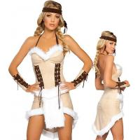 Buy cheap Indian Maiden Halloween Party Adult Costumes Headband Armbands and Dress from wholesalers