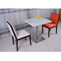 Buy cheap Stainless Steel Marble Top Dining Room Chair Modern French Restaurant Table from wholesalers