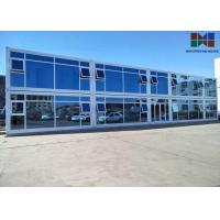 Buy cheap Painting Roof Panel Office Container House With Double - Glazing Glass Curtain from wholesalers