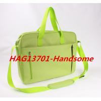 Buy cheap Cheap Promotional Office Document Bag Green Briefcase with zipper from wholesalers