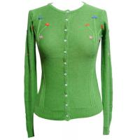 Buy cheap girls cardigan womens knitted sweaters With Buttons , Handmade Embroiery from wholesalers