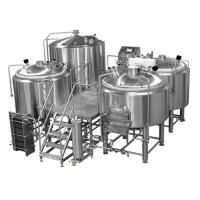 Buy cheap Manual or Semi-automatic 4 Vessel Brewhouse Mirror Polishing Beer Making Equipment from wholesalers