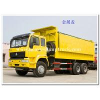 Buy cheap HOWO 371 hp 6x4 heavy duty dump truck  for sand and stone loading with long cabin from wholesalers