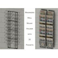 Buy cheap Wall Mount Magazine Office Display Racks With 20 Literature Pockets Size A4 from wholesalers