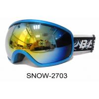 Buy cheap Cool Snow Ski Goggles , ski boarding goggles with Big Hydro-Film Frame , Anti - Fog Spherical Pc Lens from wholesalers