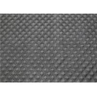Buy cheap Black Quilted Bonded Leather Fabric 1.0 Mm Thickness For Garment from wholesalers
