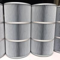Buy cheap Synthetic Fiber Industrial Air Filter Cartridges 0.1 micron Polyester Antistatic from wholesalers