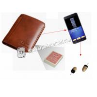 Buy cheap Foldable Man's Leather Wallet Poker Scanner For Poker Cheating Device from wholesalers
