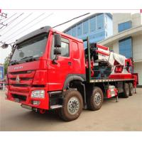 Buy cheap 12 Wheeler 8x4 50 Ton Truck Mounted Knuckle Boom Cranes 50m Working Height from wholesalers